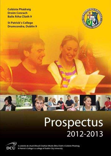 Prospectus - St. Patrick's College - DCU