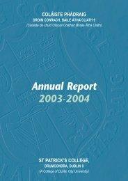 2003 / 04 - St. Patrick's College - DCU