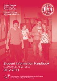 Student Information Handbook - St. Patrick's College - DCU