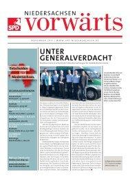 Ausgabe November 2011 des Niedersachsen-Vorwärts als pdf-Datei.