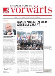 Ausgabe Mai 2010 des Niedersachsen-Vorwärts als pdf-Datei.