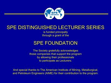 Cementing - Society of Petroleum Engineers