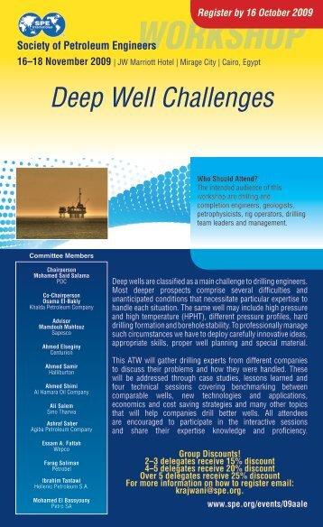 WORKSHOP - Society of Petroleum Engineers