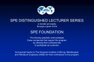 Rashid Khan 2006-07 SPE Distinguished Lecture - Society of ...