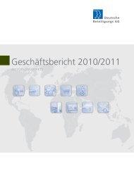 Geschäftsbericht 2010/2011 - Deutsche Beteiligungs AG