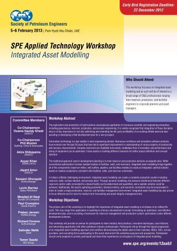 SPE Applied Technology Workshop Integrated Asset Modelling