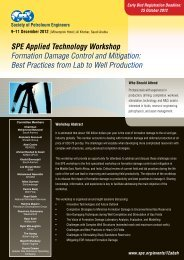 SPE Applied Technology Workshop Formation Damage Control and ...