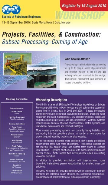 Workshop Brochure - Society of Petroleum Engineers