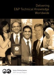 2009 Annual Report - Society of Petroleum Engineers