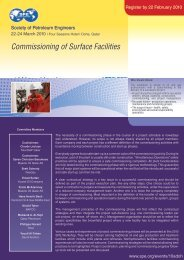 Commissioning of Surface Facilities - Society of Petroleum Engineers