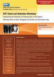 Workshop Brochure - Society of Petroleum Engineers