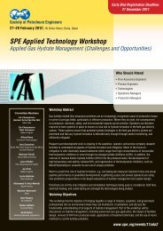 SPE Applied Technology Workshop - Society of Petroleum Engineers