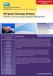 SPE Applied Technology Workshop Effective Life Cycle Asset ...