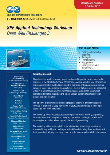 SPE Applied Technology Workshop Deep Well Challenges 3