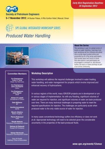 Produced Water Handling - Society of Petroleum Engineers