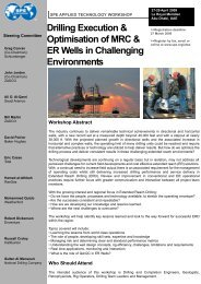 Drilling Execution & Optimisation of MRC & ER Wells in Challenging ...