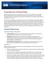 Paper Guidelines - Society of Petroleum Engineers