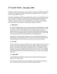 2 SAUFF NEWS – December 2007 - SA Spearfishing