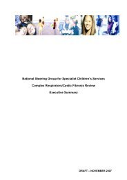 Complex Respiratory/Cystic Fibrosis - National Steering Group For ...