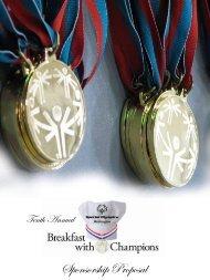Sponsorship Proposal - Special Olympics Washington