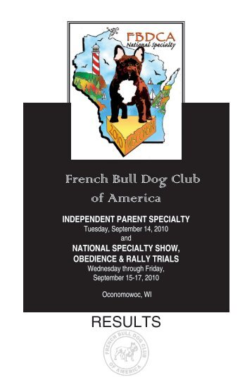 RESULTS: French Bulldog Club of America National Specialty ...
