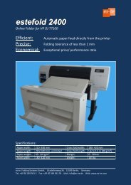 estefold 2400 Online Folder for HP DJ T7100 - Folding Systems Berlin