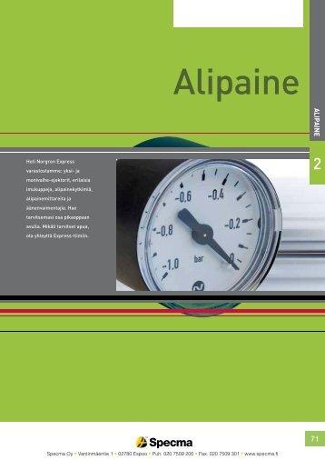 Norgren Alipainetuotteet - Specma Hydraulic