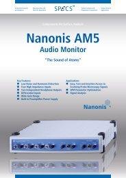 Nanonis AM5 - SPECS Surface Nano Analysis GmbH