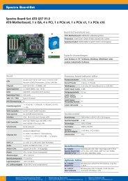 Spectra Board-Set ATX Q57 V1.0 ATX-Motherboard, 1 x ISA, 4 x PCI ...