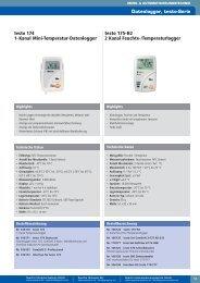 testo 174 1-Kanal Mini-Temperatur-Datenlogger testo 175-H2 2 ...