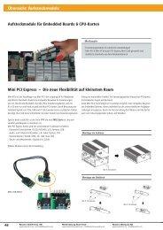 Übersicht Aufsteckmodule - Spectra Computersysteme GmbH