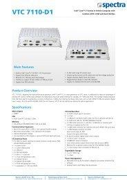 VTC 7110-D1 - Spectra Computersysteme GmbH