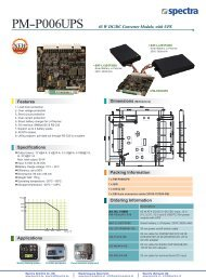 Features Specifications PM-P006UPS 65 W DC/DC Converter ...