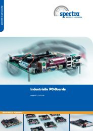 Industrielle PC-Boards - Spectra Computersysteme GmbH