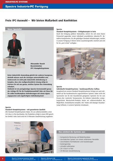 IPC-Komplettsysteme - Spectra Computersysteme GmbH