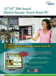 "15""~19"" X86-based Digital Signage Touch Panel PC - Spectra ..."