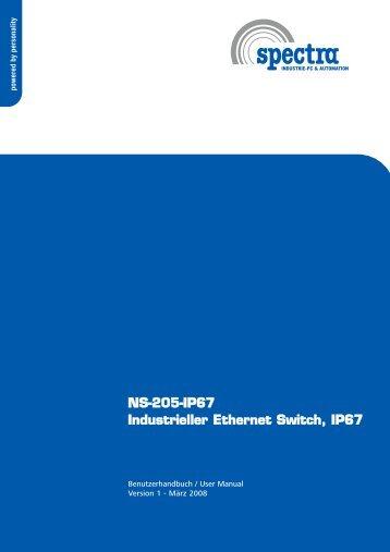 NS-205-IP67 Industrieller Ethernet Switch, IP67 - Spectra ...