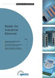 Ready for Industrial Ethernet - Spectra Computersysteme GmbH