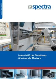 Industrie-PC mit Flachdisplay & Industrielle Monitore - Spectra ...
