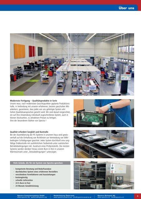 Industrie-PC mit Flachdisplay & Industrielle Monitore - Spectra ...