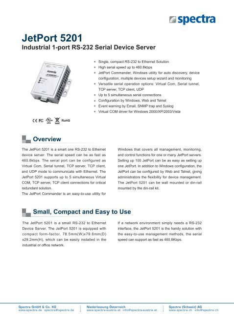 JetPort 5201 - Spectra Computersysteme GmbH