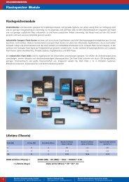 Flashspeichermodule Lifetime (Theorie) - Spectra Computersysteme ...