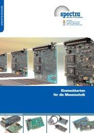 Einsteckkarten für die Messtechnik - Spectra Computersysteme GmbH