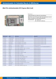 Mini-PCIe Aufsteckmodule - Spectra Computersysteme GmbH