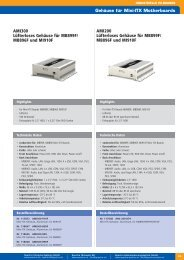 MB896F und MI910F - Spectra Computersysteme GmbH