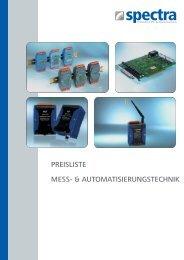 PREISLISTE MESS- & AUTOMATISIERUNGSTECHNIK - Spectra ...