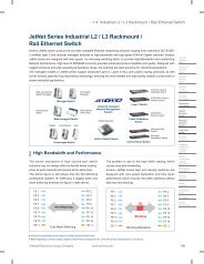 JetNet Series Industrial L2 / L3 Rackmount / Rail Ethernet Switch