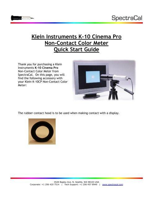 Klein K10CP (PDF) - SpectraCal