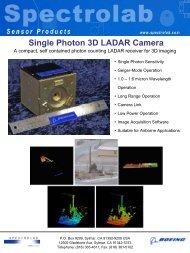 Single Photon 3D LADAR Camera - Spectrolab