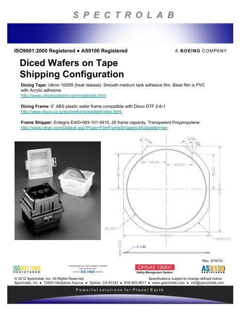 Wafer Dicing Tape